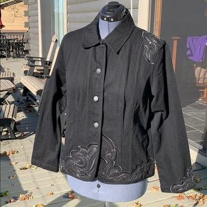 Chico's Chicos Jacket with Detailing 3/XL